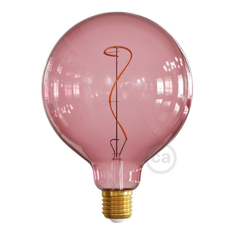 LED žiarovka G125 vínovo červená (Berry Red), kolekcia Pastel, popínavé vlákno 4W E27 Stmievateľná 2200K