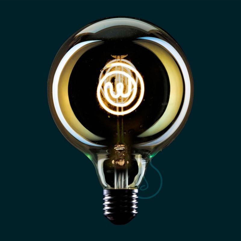 Priehľadná LED žiarovka Glóbus G125 z edície Masterchef s tématickým logom - 4W E27, stmievateľná 2000K