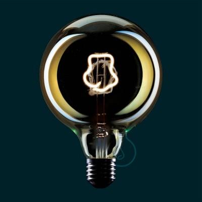 Priehľadná LED žiarovka Glóbus G125 z edície Masterchef s vláknom v tvare kuchárskej čiapky - 4W E27, stmievateľná 2000K