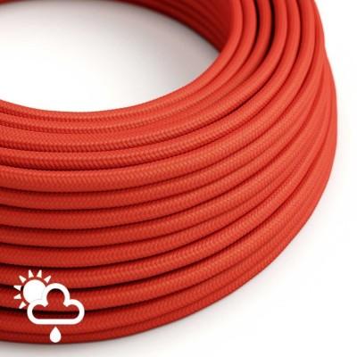Exteriérový textilný elektrický kábel, hodváb, SM09 Červená