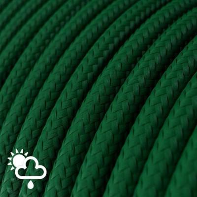 Exteriérový textilný elektrický kábel, hodváb, SM21 Tmavo zelená