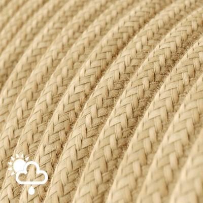 Exteriérový textilný elektrický kábel, jutový, SN06
