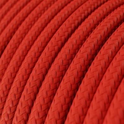 LAN sieťový textilný kábel Cat 5e bez konektorov RJ45 - umelý hodváb, RM09 Červená