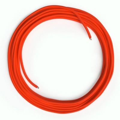 LAN sieťový textilný kábel Cat 5e bez konektorov RJ45 - umelý hodváb, RF15 Fluo oranžová