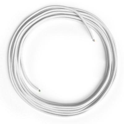 LAN sieťový textilný kábel Cat 5e bez konektorov RJ45 - bavlna, RC01 biela