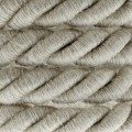 Elektrický kábel XL, kábel 3x0,75 potiahnutý textíliou a ľanom. Priemer 16 mm.