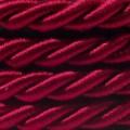 Elektrický kábel XL, kábel 3x0,75 potiahnutý lesklou tmavo bordovou textíliou. Priemer 16 mm.