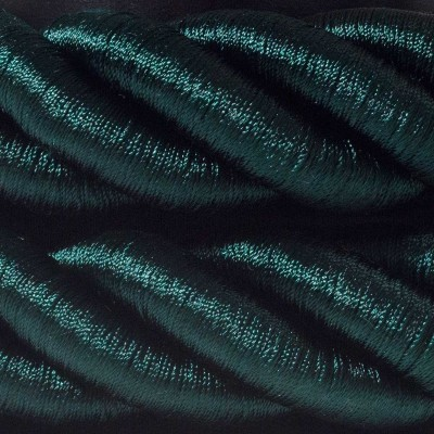 Elektrický kábel 3XL, kábel 3x0,75 potiahnutý lesklou tmavo zelenou textíliou. Priemer 30 mm.