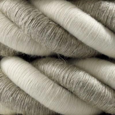 Elektrický kábel 3XL, kábel 3x0,75 potiahnutý ľanom a bavlnou. Priemer 30 mm.