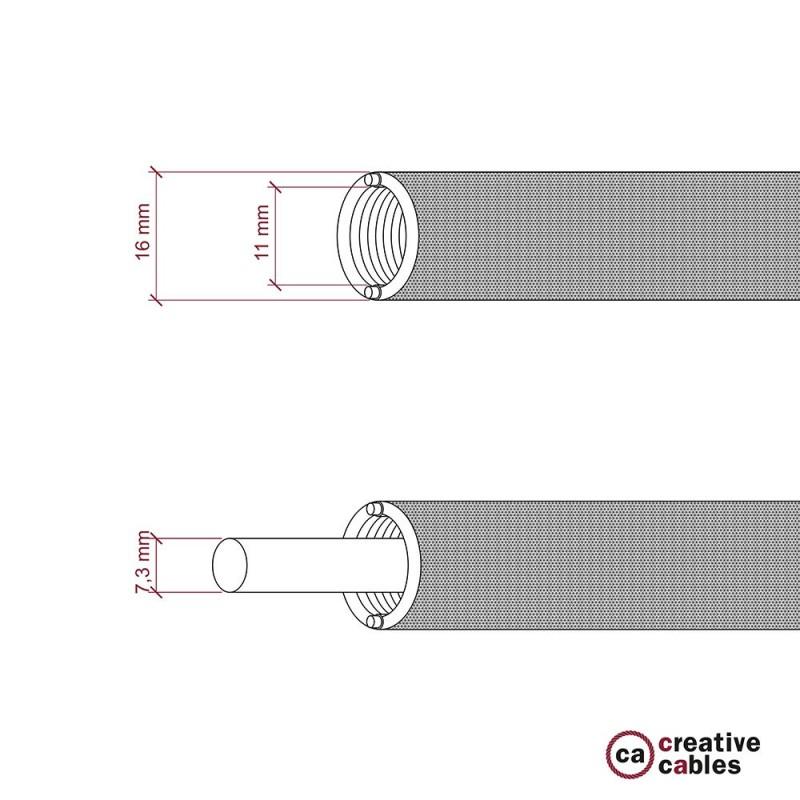 Creative-Tube - ohybná trubica potiahnutá červenou hodvábnou tkaninou RM09, priemer 16 mm