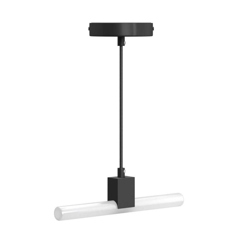 Minimalistická závesná lampa s objímkou S14d Syntax a čiernym káblom RM04