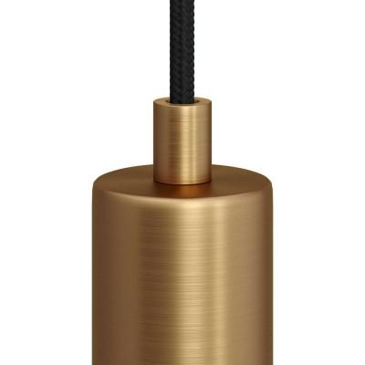 Matná bronzová valcová kovová káblová svorka so závitovou rúrkou, matkou a podložkou