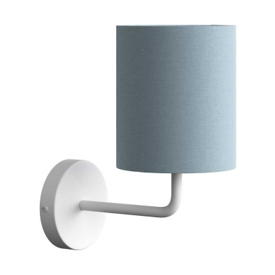 Fermaluce Pastel kovové nástenné svietidlo s tienidlom a ohnutou predlžovacou rúrkou