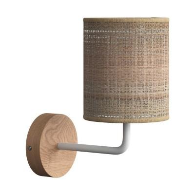 Fermaluce Maritime, drevené nástenné svietidlo s tienidlom a ohnutou predlžovacou rúrkou