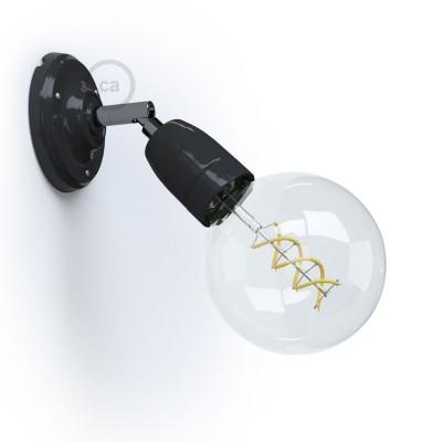 Fermaluce 90° Monochrome, nastaviteľné porcelánové bodové svietidlo