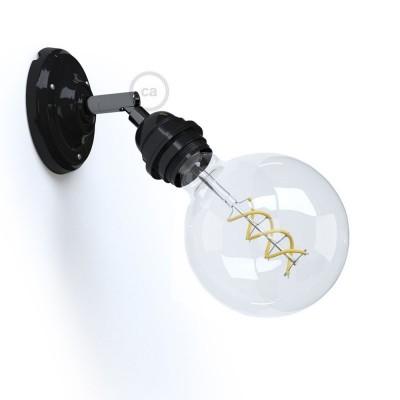 Fermaluce 90° Monochrome s objímkou E27 so závitom, nastaviteľné porcelánové svietidlo