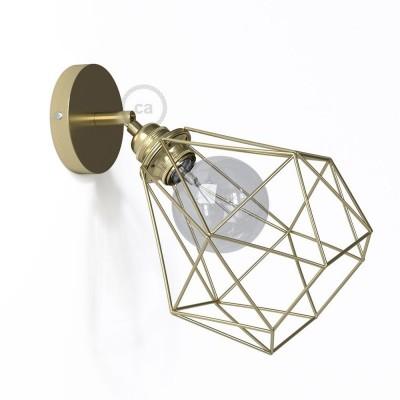 Fermaluce Metallo 90° Urban, nastaviteľné kovové nástenné bodové svietidlo s tienidlom Diamant