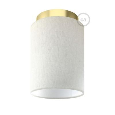 Fermaluce Glam s valcovým tienidlom, Ø 15cm v18cm, kovové nástenné alebo stropné svietidlo