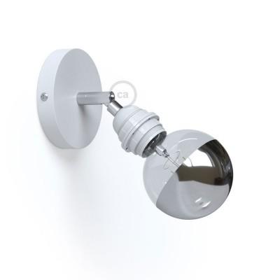Fermaluce Metallo 90° Monochrome, nastaviteľné kovové nástenné alebo stropné svietidlo s objímkou E27 so závitom