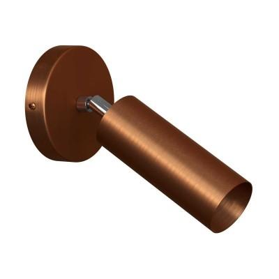 Fermaluce Vintage - nastaviteľné kovové bodové svietidlo s tienidlom Tub-E14
