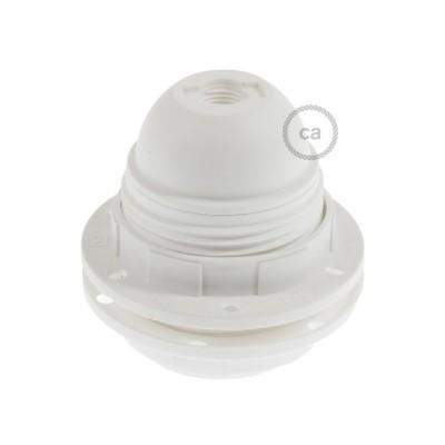 Objímka z termoplastu E27 s krúžkami na tienidlo