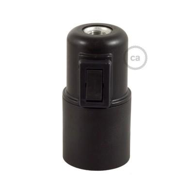 Objímka z termoplastu E27 s vypínačom