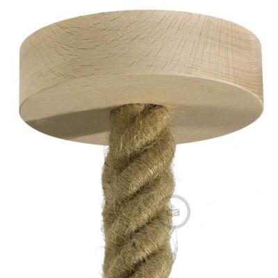 Drevená stropná rozeta pre 3XL lanový kábel