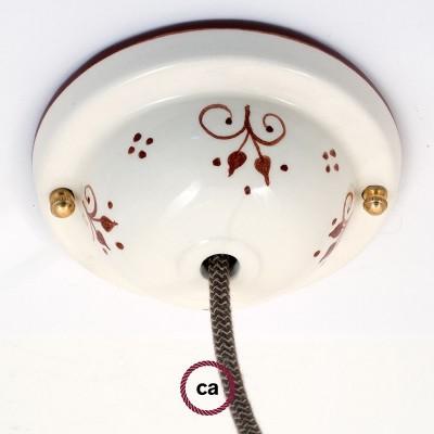 Keramická stropná rozeta, dekorovaný, edícia Deco-81 Jarabiny