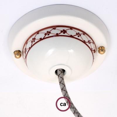 Keramická stropná rozeta, dekorovaný, edícia Deco-82 Brečtan