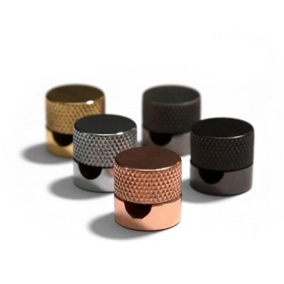 Sarè - Kovová nástenná káblová svorka pre textilné elektrické káble - čierna perleť