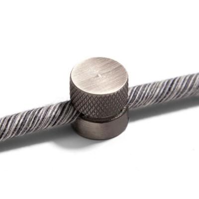 Sarè - Kovová nástenná káblová svorka pre textilné elektrické káble - matný chrom