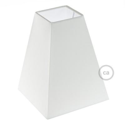 Hranaté pyramídové plátenné tienidlo pre objímku E27 - Vyrobené v Taliansku