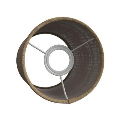 Valcové tienidlo z prírodného lýka pre objímku E27 - Vyrobené v Taliansku