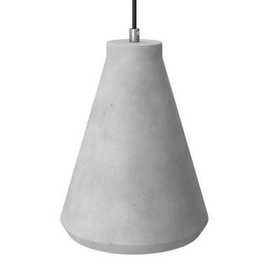 Betónové tienidlo Funnel pre závesné lampy s káblovou svorkou a objímkou E27