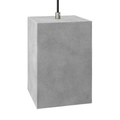 Betónové tienidlo Cube pre závesné lampy s káblovou svorkou a objímkou E27