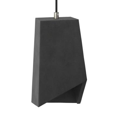 Betónové tienidlo Prisma pre závesné lampy s káblovou svorkou a objímkou E27