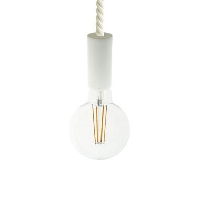 Závesná lampa s XL 16mm lanovým káblom, lakované drevené prvky - Vyrobená v Taliansku