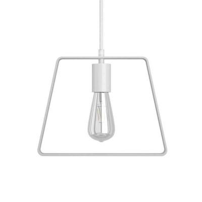 Závesná lampa s textilným káblom, tienidlom Duedì Base a kovovými detailmi – Vyrobená v Taliansku