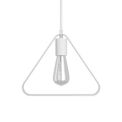 Závesná lampa s textilným káblom, tienidlom Duedì Apex a kovovými detailmi – Vyrobená v Taliansku