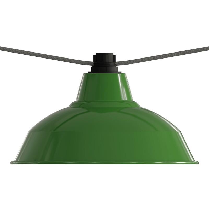Černá objímka pro světelný řetěz z termoplastu E27 s kroužky pro stínidlo
