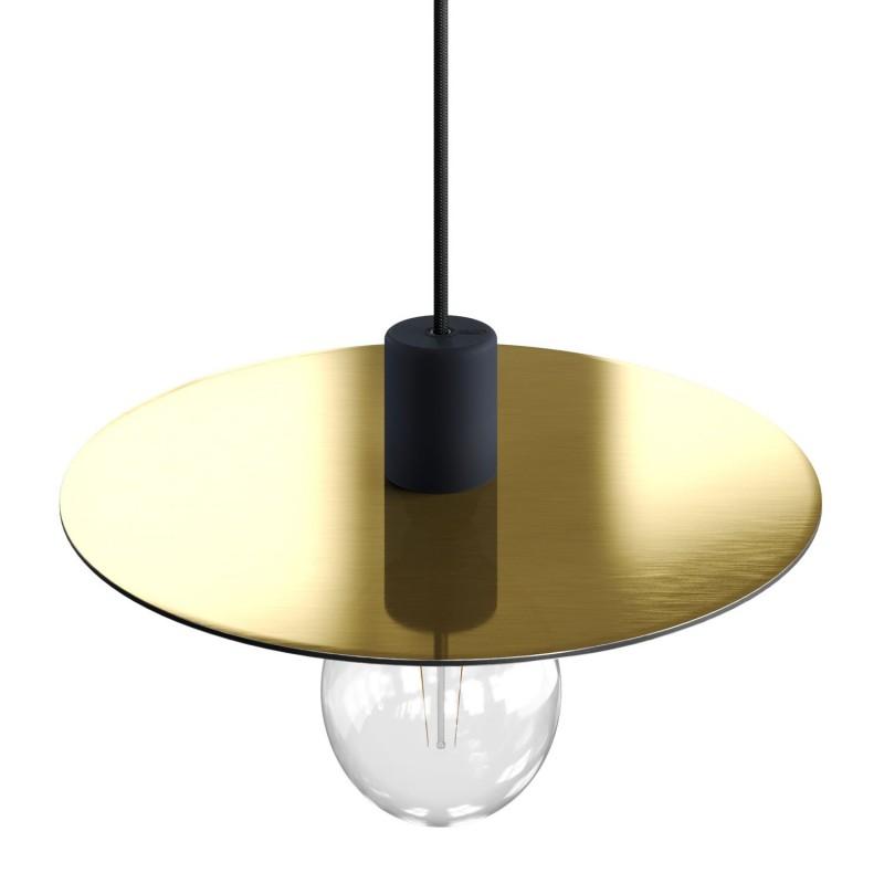 EIVA ELEGANT závesná lampa s tienidlom, 5m textilného kábla, decentralizér, silikónová rozeta a objímka, IP65 vodeodolná