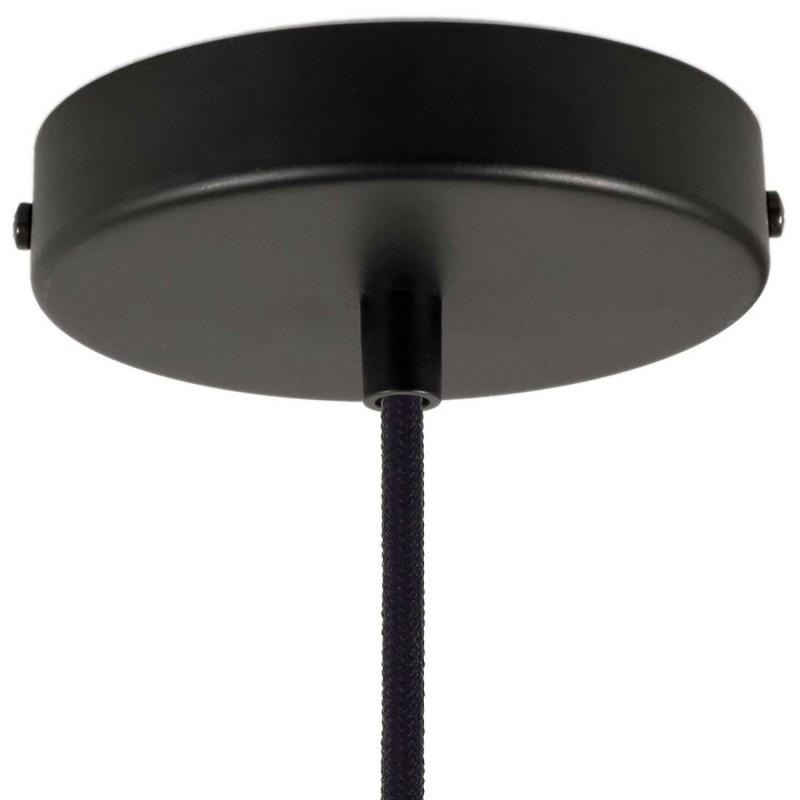 Závesná lampa doplnená o textilný kábel a dvojité tienidlo Tub-E14 vyrobená v Taliansku