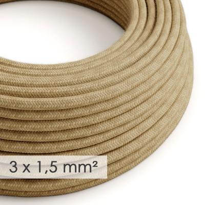 Textilný elektrický kábel so širším priemerom 3x1,50 - okrúhly potiahnutý jutou RN06