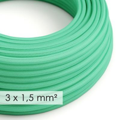 Textilný elektrický kábel so širším priemerom 3x1,50 - okrúhly - umelý hodváb RH69 opálový