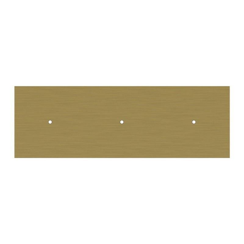 Obdĺžniková XXL stropná rozeta s tromi otvormi Rose-One s rozmermi 675 x 225 mm
