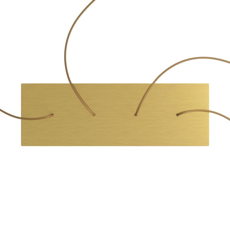 Obdĺžniková XXL stropná rozeta so štyrmi otvormi Rose-One s rozmermi 675 x 225 mm