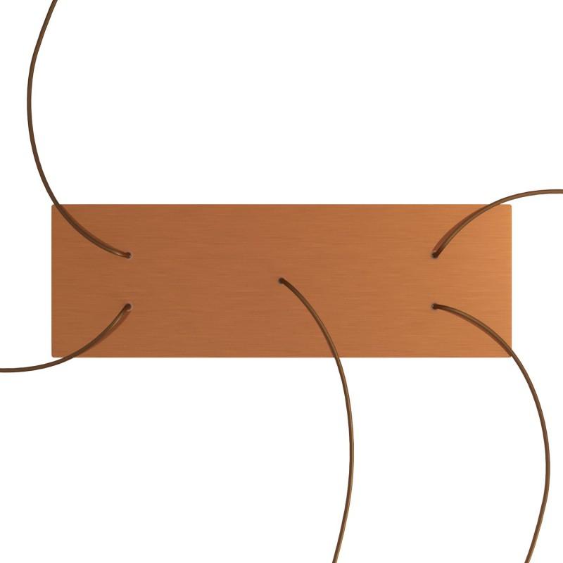 Obdĺžniková XXL stropná rozeta s piatimi otvormi Rose-One s rozmermi 675 x 225 mm