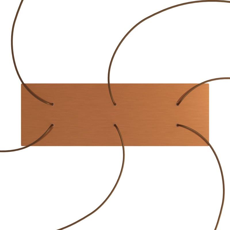 Obdĺžniková XXL stropná rozeta so šiestimi otvormi Rose-One s rozmermi 675 x 225 mm