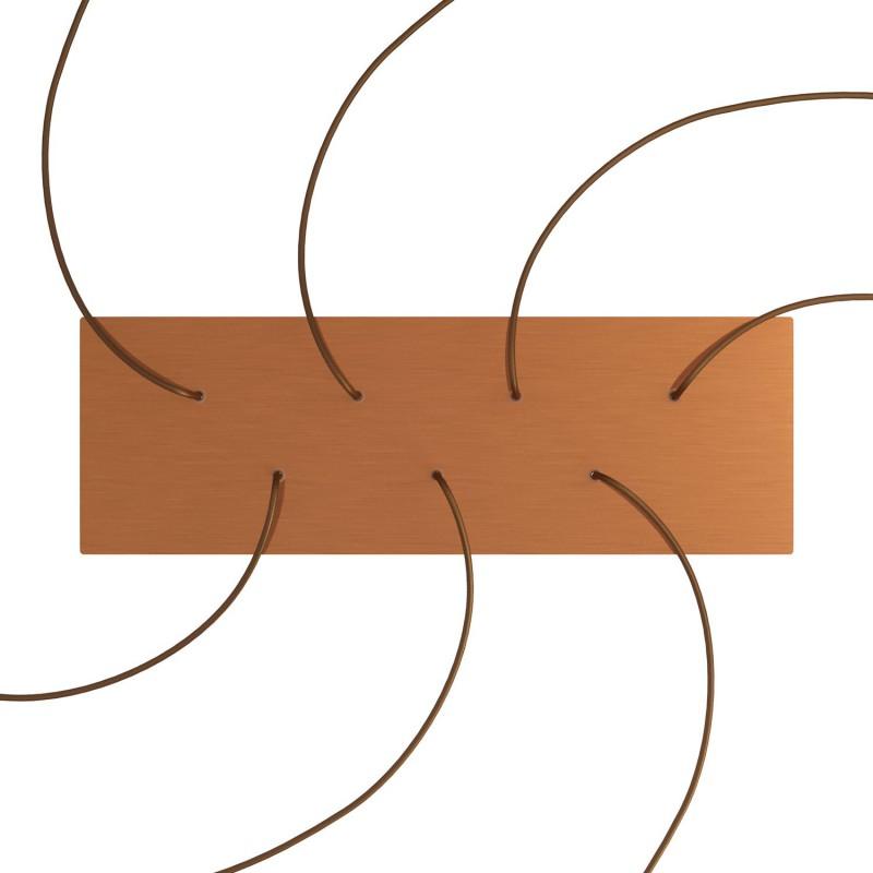Obdĺžniková XXL stropná rozeta so siedmimi otvormi Rose-One s rozmermi 675 x 225 mm