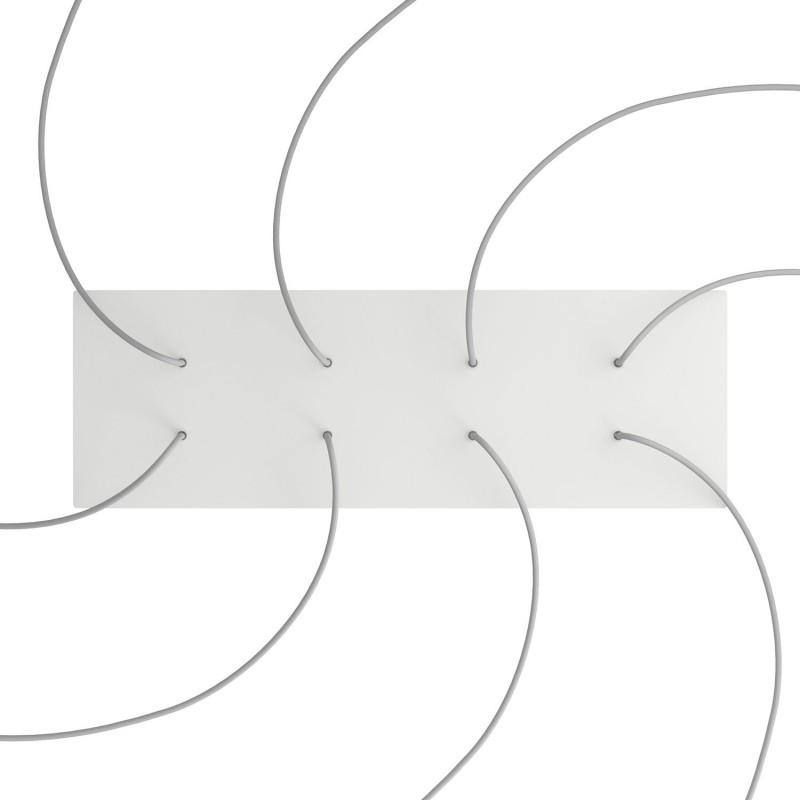 Obdĺžniková XXL stropná rozeta s ôsmimi otvormi Rose-One s rozmermi 675 x 225 mm